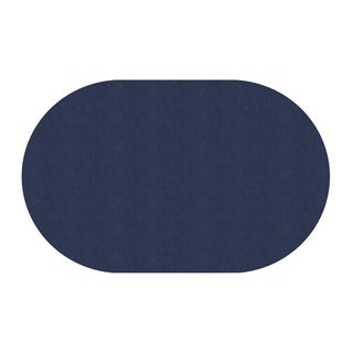 "Flagship Carpet Americolors School Classroom Oval Rug, Navy - 7'6"" x 12' - 7'6"" x 12' Oval"