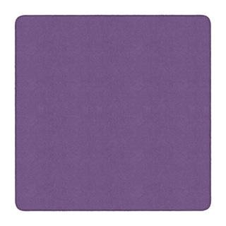 Flagship Carpet Amerisoft School Classroom Square Rug, Purple - 6' x 6' - 6' x 6'