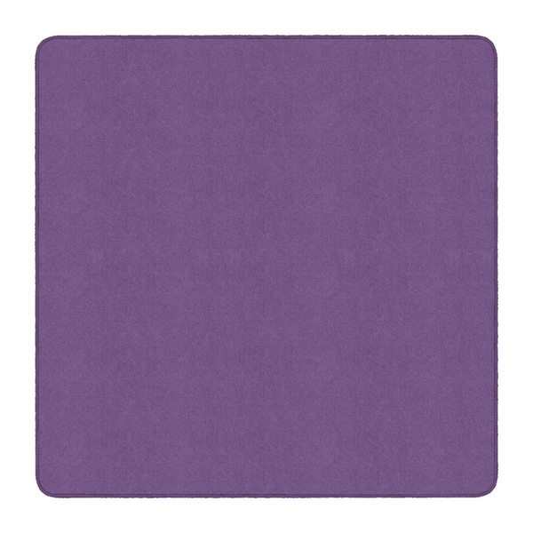 Flagship Carpet Americolors School Classroom Square Rug, Pretty Purple - 6' x 6' - 6' x 6' Square