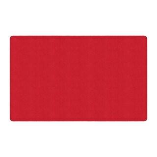 "Flagship Carpet Americolors School Classroom Rectangular Rug, Rowdy Red - 7'6"" x 12' - 7'6"" x 12'"