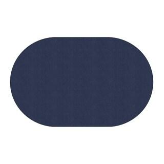 "Flagship Carpet Ameristrong School Classroom Oval Rug, Navy - 7'6"" x 12' - 7'6"" x 12' Oval"