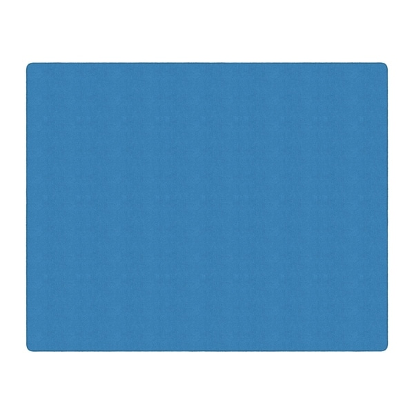 Flagship Carpet Americolors School Classroom Rectangular Rug, Blue Bird - 12' x 15' - 12' x 15'