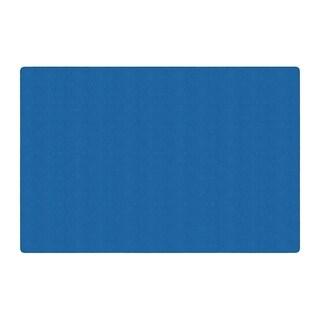 Flagship Carpet Americolors School Classroom Rectangular Rug, Royal Blue - 12' x 18' - 12' x 18'