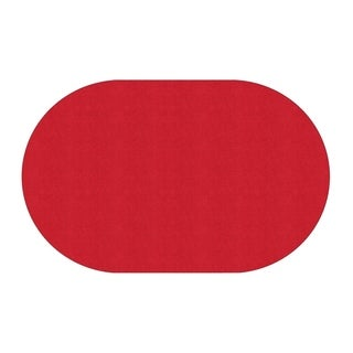 "Flagship Carpet Americolors School Classroom Oval Rug, Rowdy Red - 7'6"" x 12' - 7'6"" x 12' Oval"