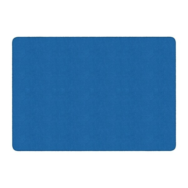 Flagship Carpet Amerisoft School Classroom Rectangular Rug, Royal Blue - 6' x 9' - 6' x 9'