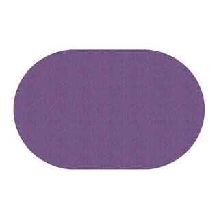 "Flagship Carpet Amerisoft School Classroom Oval Rug, Purple - 7'6"" x 12' - 7'6"" x 12'"