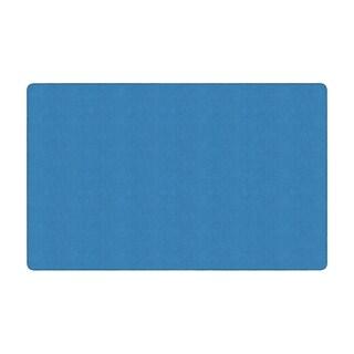 "Flagship Carpet Americolors School Classroom Rectangular Rug, Blue Bird - 7'6"" x 12' - 7'6"" x 12'"