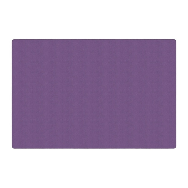 Flagship Carpet Americolors School Classroom Rectangular Rug, Pretty Purple - 12' x 18' - 12' x 18'