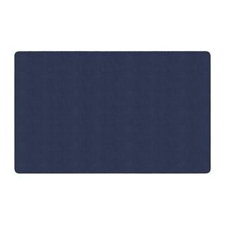 "Flagship Carpet Americolors School Classroom Rectangular Rug, Navy - 7'6"" x 12' - 7'6"" x 12'"