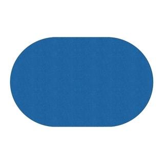 "Flagship Carpet Amerisoft School Classroom Oval Rug, Royal Blue - 7'6"" x 12' - 7'6"" x 12'"