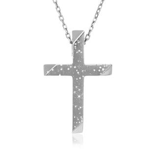 Sterling Silver Stardust Crucifix Pendant