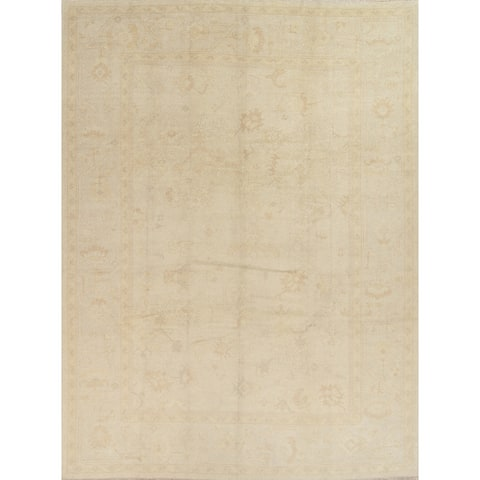 "Oushak All-Over Handmade Wool Turkish Oriental Area Rug - 14'6"" x 10'10"""