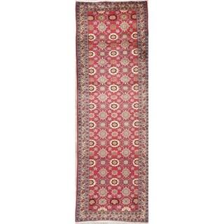 "Tabriz Floral Handmade Wool Persian Oriental Rug - 9'5"" x 3'0"" Runner"