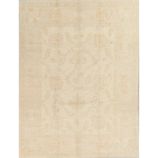 "Oushak All-Over Handmade Wool Turkish Oriental Area Rug - 11'0"" x 8'4"""