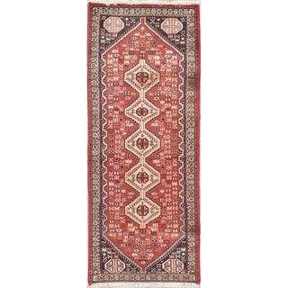 "Abadeh Tribal Geometric Handmade Wool Persian Oriental Rug - 6'3"" x 2'6"" Runner"
