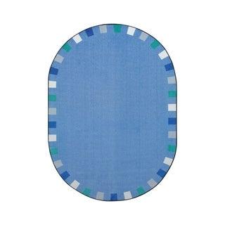 "Joy Carpets On the Border Nylon School Classroom Oval Rug, Soft - 10'9"" x 13'2"" - 10'9"" x 13'2"" Oval"