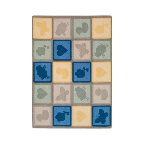 "Joy Carpets Cuddly Creatures Nylon School Classroom Rectangular Rug, Multi Color - 7'8"" x 10'9"" - 7'8"" x 10'9"""