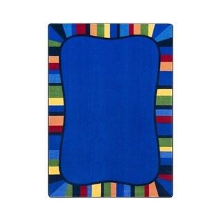 "Joy Carpets Colorful Accents Nylon School Classroom Rectangular Rug, Rainbow - 10'9"" x 13'2"" - 10'9"" x 13'2"""