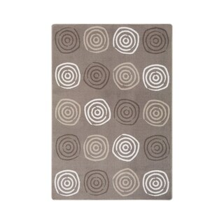 "Joy Carpets Simply Swirls Nylon School Classroom Rectangular Rug, Neutral - 7'8"" x 10'9"" - 7'8"" x 10'9"""