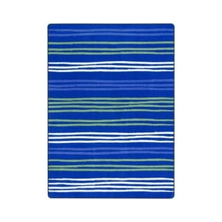 "Joy Carpets All Lined Up Nylon School Classroom Rectangular Rug, Seaglass - 10'9"" x 13'2"" - 10'9"" x 13'2"""