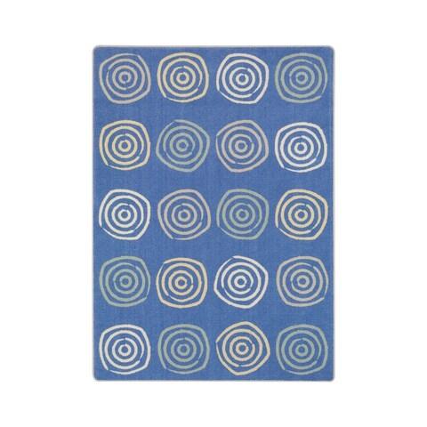 Joy Carpets Simply Swirls Pastel Nylon School Classroom Rectangular Rug - 7'8 x 10'9
