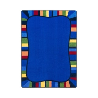 "Joy Carpets Colorful Accents Nylon School Classroom Rectangular Rug, Rainbow - 5'4"" x 7'8"" - 5'4"" x 7'8"""