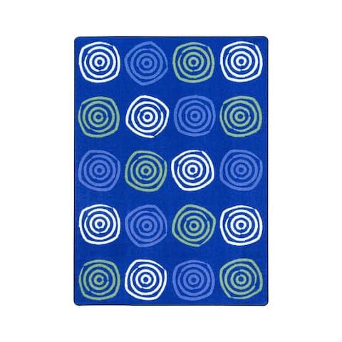 "Joy Carpets Simply Swirls Nylon School Classroom Rectangular Rug, Seaglass - 5'4"" x 7'8"" - 5'4"" x 7'8"""