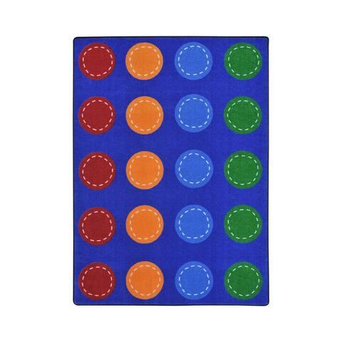 "Joy Carpets Spaces and Places Nylon School Classroom Rectangular Rug, Multi Color - 5'4"" x 7'8"" - 5'4"" x 7'8"""