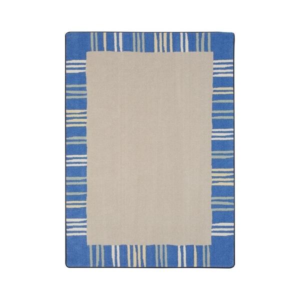 "Joy Carpets Seeing Stripes Nylon School Classroom Rectangular Rug, Pastel - 5'4"" x 7'8"" - 5'4"" x 7'8"""