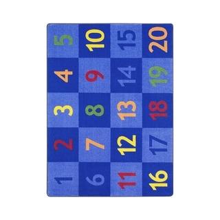 "Joy Carpets Time to Count Nylon School Classroom Rectangular Rug, Multi Color - 7'8"" x 10'9"" - 7'8"" x 10'9"""