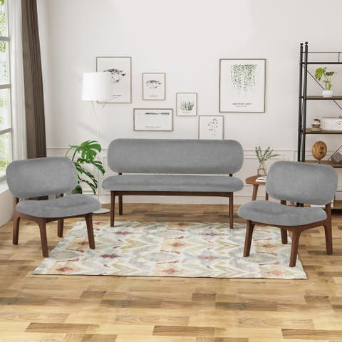 Chantilly 3 Piece Club Chair and Loveseat Set by Christopher Knight Home
