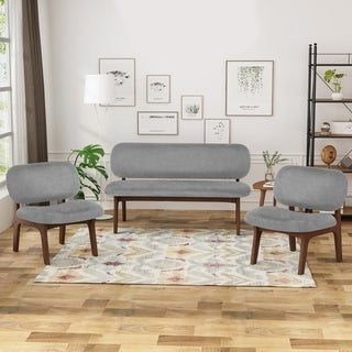 Link to Chantilly 3 Piece Club Chair and Loveseat Set by Christopher Knight Home Similar Items in Living Room Furniture Sets