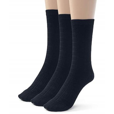 Men's Extra Soft Crew Dress Socks Designed Bamboo Dress and Casual School Socks