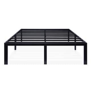 Sleeplanner Black Metal 16-inch Platform Bed Frame