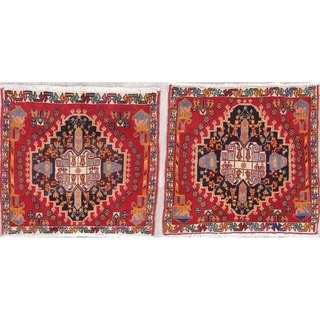 """The Curated Nomad Lusk 2-piece Hand-knotted Wool Heirloom Item Area Rug Set - 1'11"""" x 1'11"""" Square"""