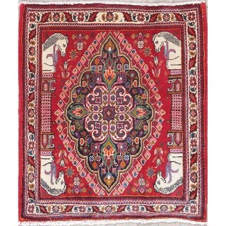 Copper Grove Gialousa Abadeh Hand-knotted Geometric Print Wool Area Rug