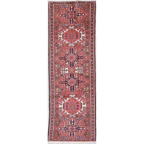 Gracewood Hollow Ananyan Tribal Blend Knotted Hand-Knotted Wool Rug - 6'6 Runner