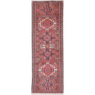 """Gracewood Hollow Ananyan Tribal Blend Knotted Hand-Knotted Wool Rug - 6'6"""" x 2'2"""" Runner"""