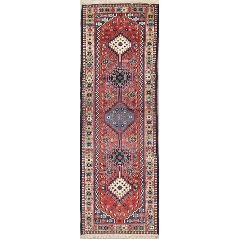 Copper Grove Outokumpu Tribal Geometric Hand-knotted Wool Heirloom Item Runner Rug - 2' x 6'2