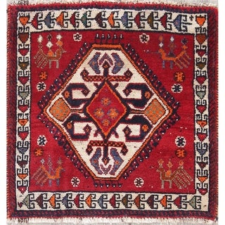 Copper Grove Gerolakkos Abadeh Hand-knotted Wool Area Rug - 1'11 Square