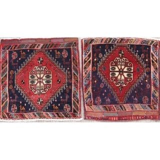 """The Curated Nomad Lusk Blue 2-piece Wool Heirloom Item Area Rug Set - 1'9"""" x 1'9"""" Square"""