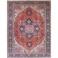 """The Curated Nomad Campton Heriz Geometric Hand-knotted Wool Persian Area Rug - 18'11"""" x 12'9"""""""