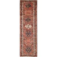 """The Curated Nomad Vodovoz Geometric Hand-knotted Wool Persian Heirloom Item Area Rug - 6'10"""" x 2'2"""" Runner"""