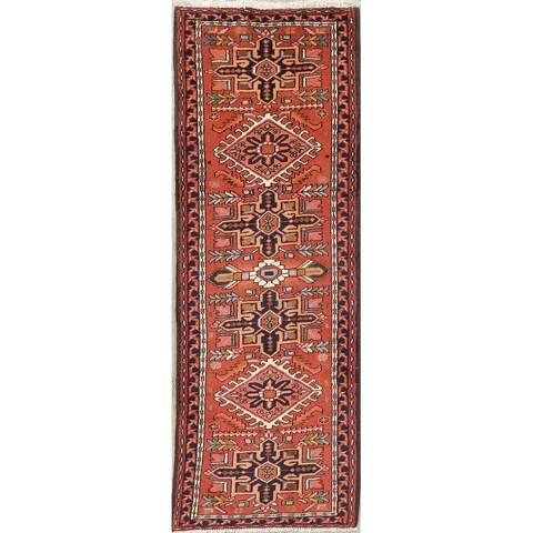 Gracewood Hollow Abajian Geometric Blend Wool Hand-Knotted Wool Persian Rug - 6'7 Runner