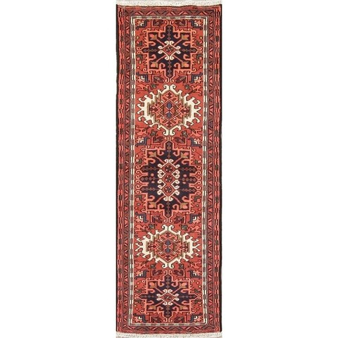 Gracewood Hollow Alazan Tribal Blend Knotted Hand-Knotted Wool Rug - 6'5 Runner