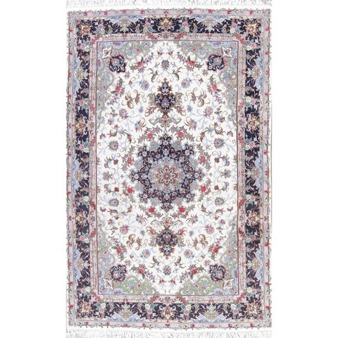 "The Curated Nomad Clyde Kashmar Floral Medallion Hand-knotted Wool/ Silk Persian Area Rug - 10'2"" x 6'5"""