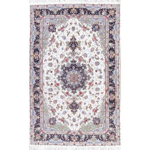 """The Curated Nomad Clyde Kashmar Floral Medallion Hand-knotted Wool/ Silk Persian Area Rug - 10'2"""" x 6'5"""""""