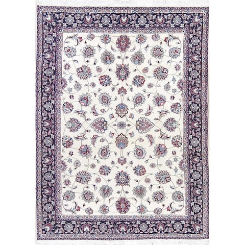 "Gracewood Hollow Hernandez Hand-knotted Floral Wool and Silk Persian Area Rug - 10'10"" x 8'0"""