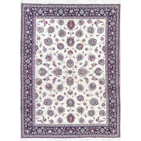 Gracewood Hollow Hernandez Hand-knotted Floral Wool and Silk Persian Area Rug - 10'10 x 8'0