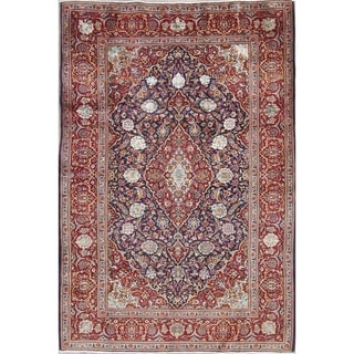 "Copper Grove Hornslet Floral Hand-Knotted Wool Persian Oriental Area Rug - 7'0"" x 4'10"""